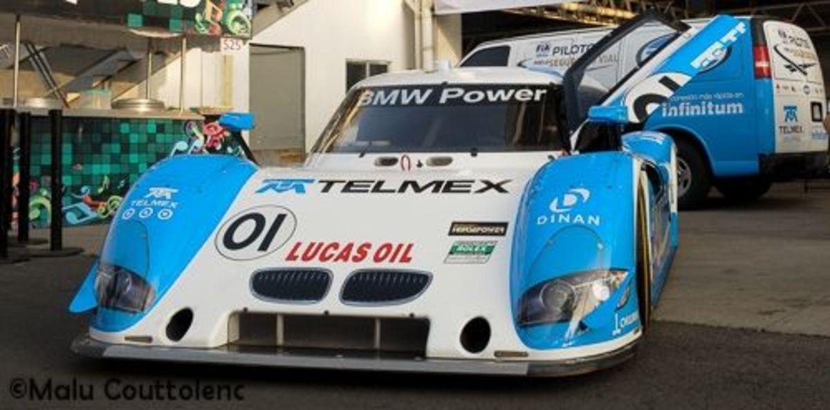 Memo Rojas and Scott Pruett's. A BMW Riley.