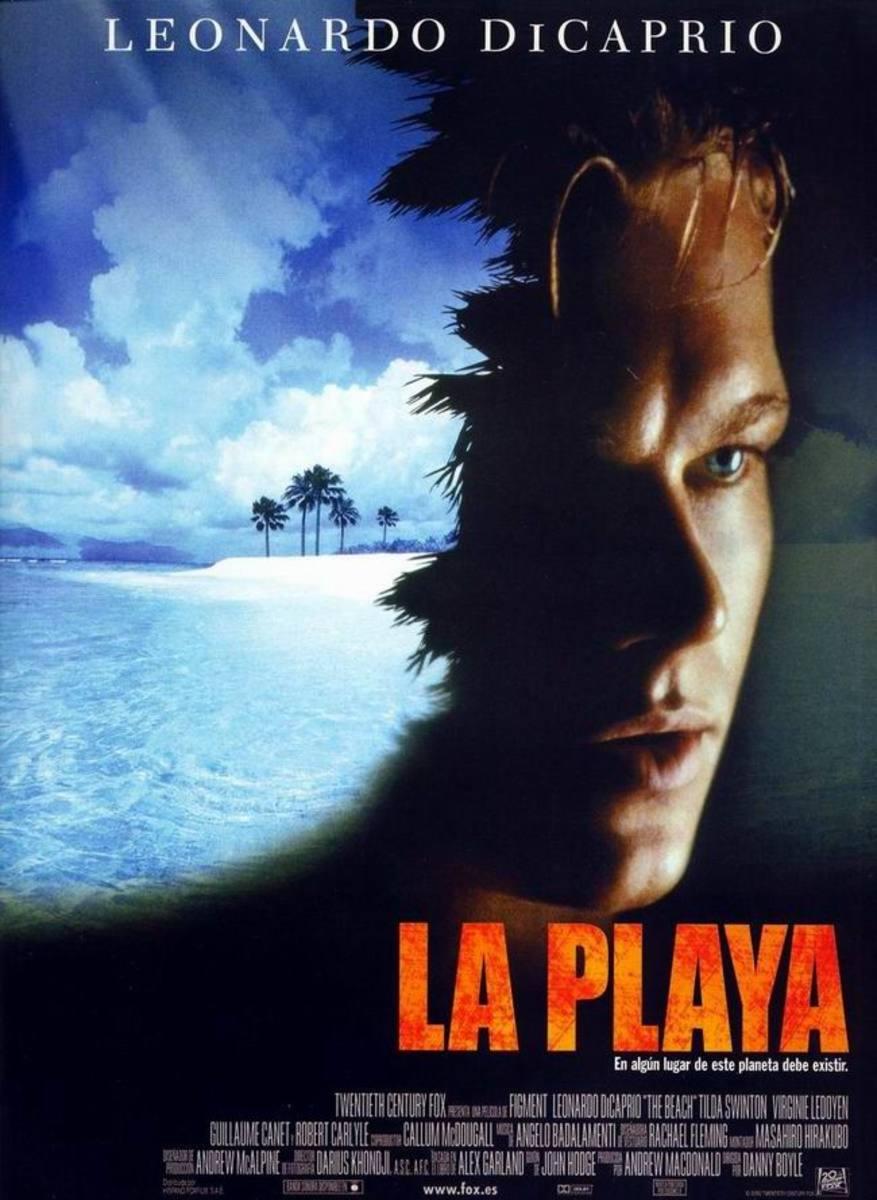 The Beach (2000) Spanish poster.