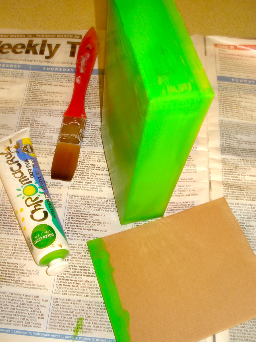 Paint the Box and the Cardboard