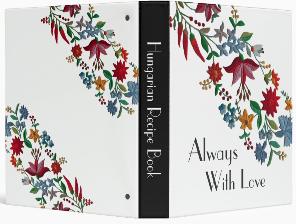 Cookbook binder with a Kalocsa design on Zazzle. Keep all your printed recipes in an organized notebook binder. Use inserts to collect and file each of your favorite recipes.