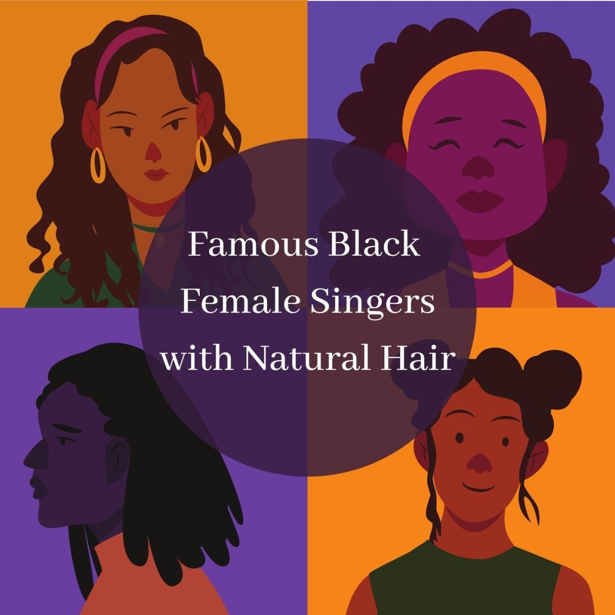 These singers rock their natural hair.