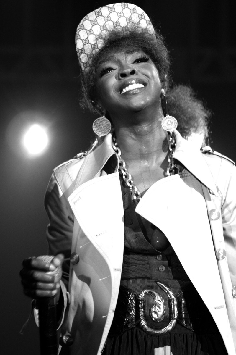 Lauryn Hill is the first black female singer to make natural hair sexy with her dreadlocks and afro.