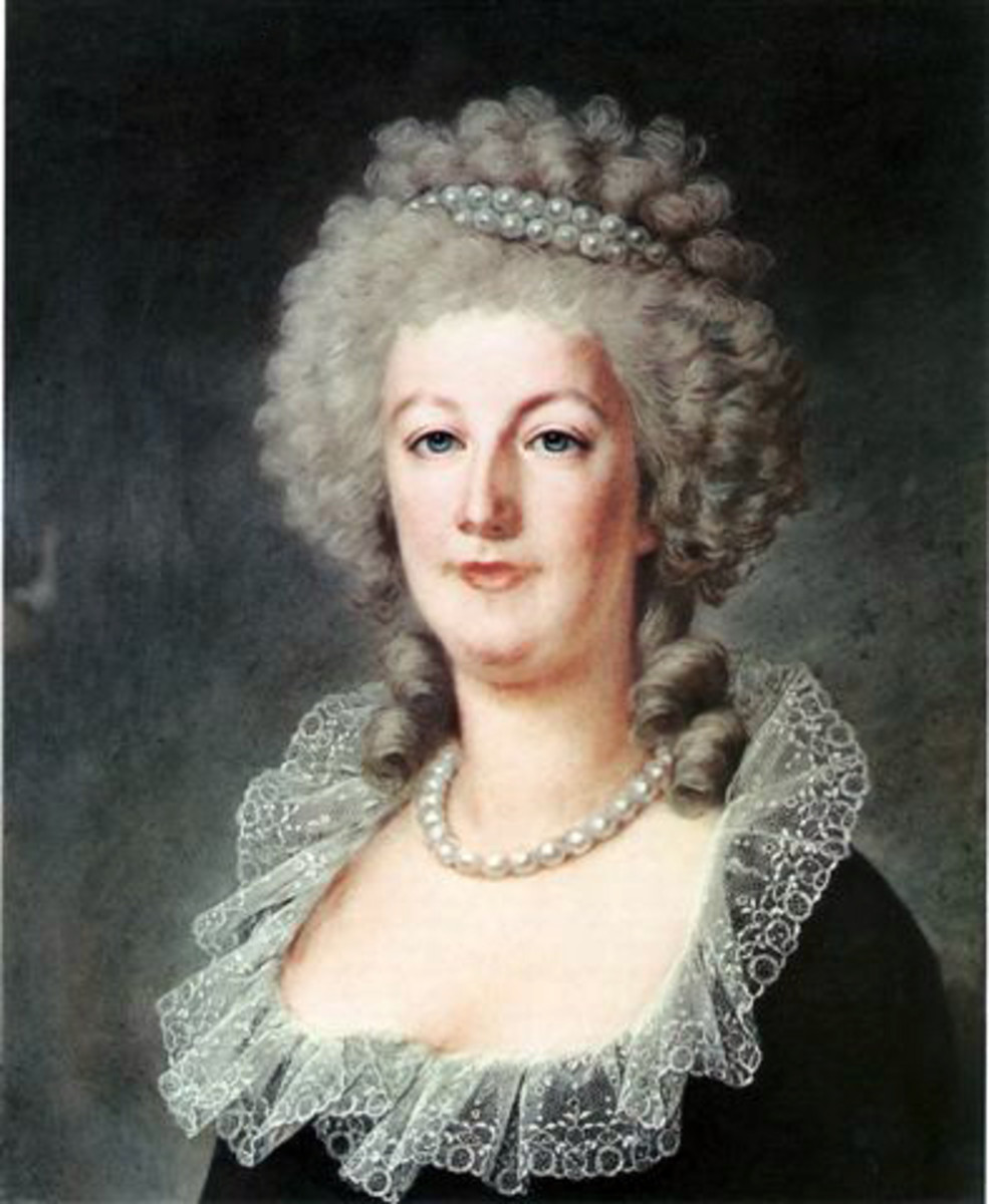 Marie Antoinette circa 1790. Her hair turned from blonde to white during the French Revolution.