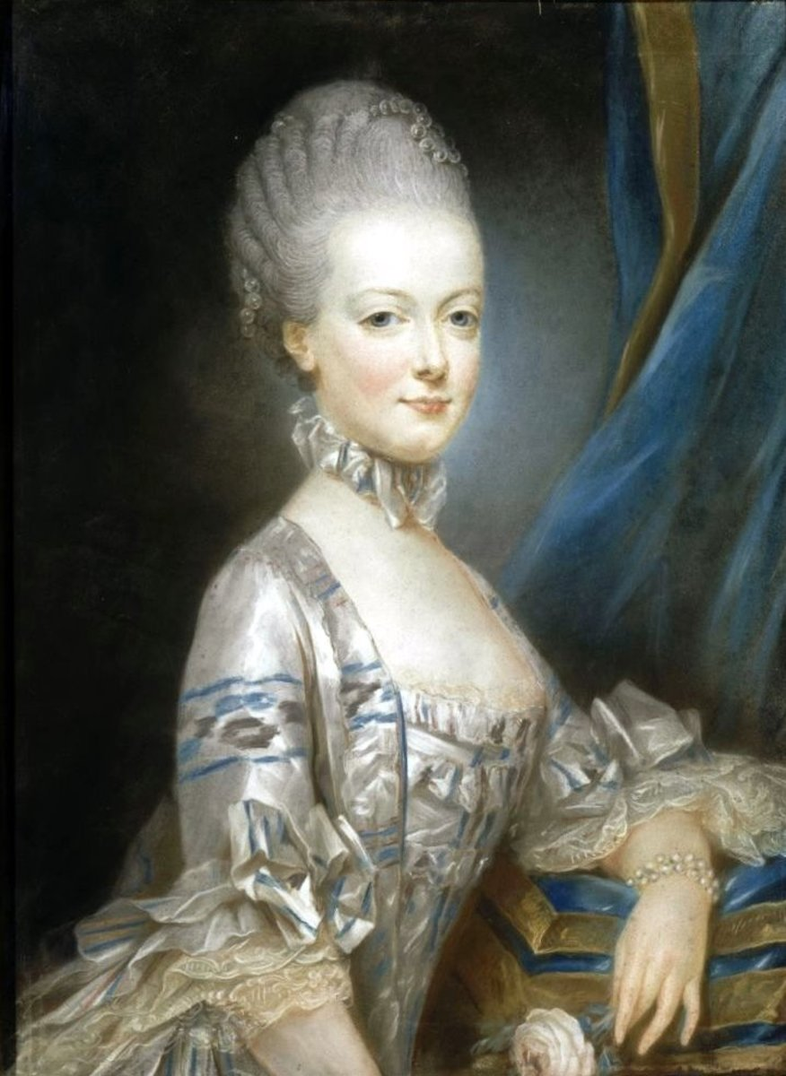 This miniature of Marie Antoinette (Maria Antonia) by Joseph Decreux was sent to Dauphin Louis in France before the wedding so that he knew what his bride looked like.