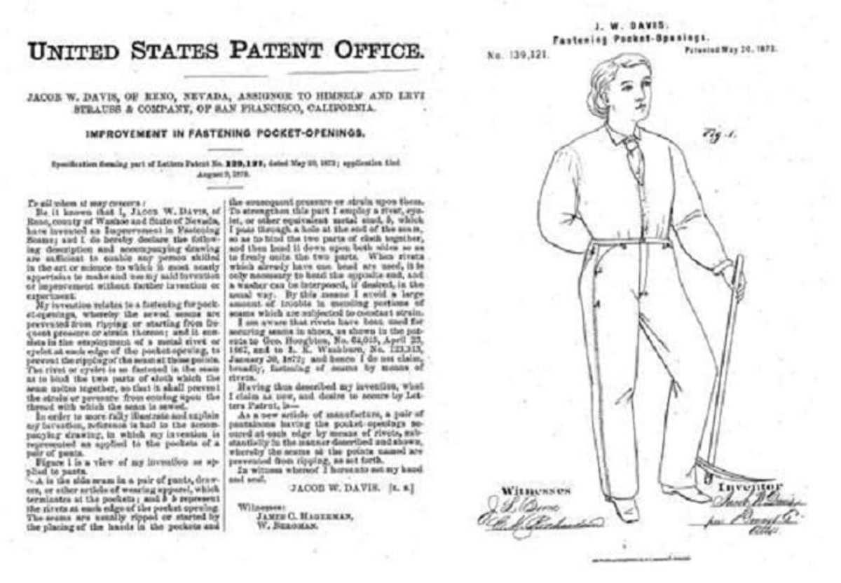 Blue jean patent application