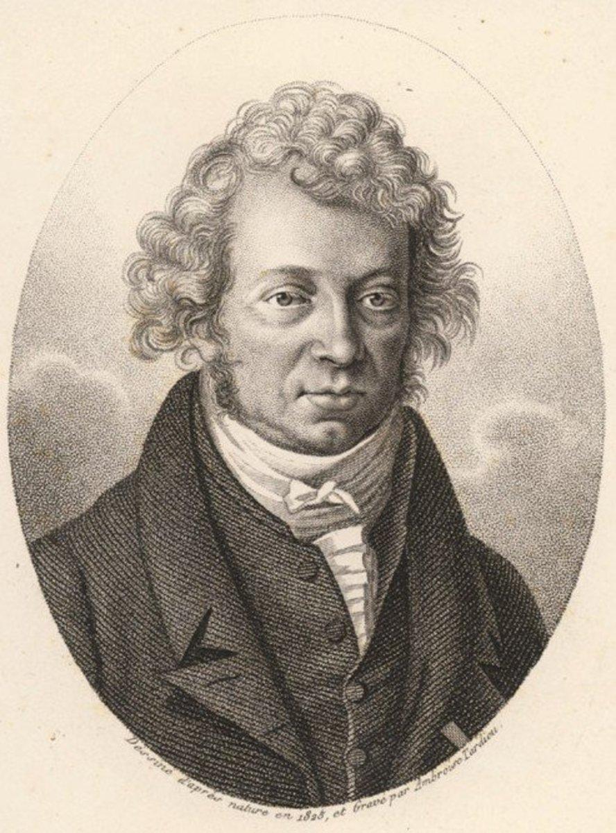 André Marie Ampère in 1825.