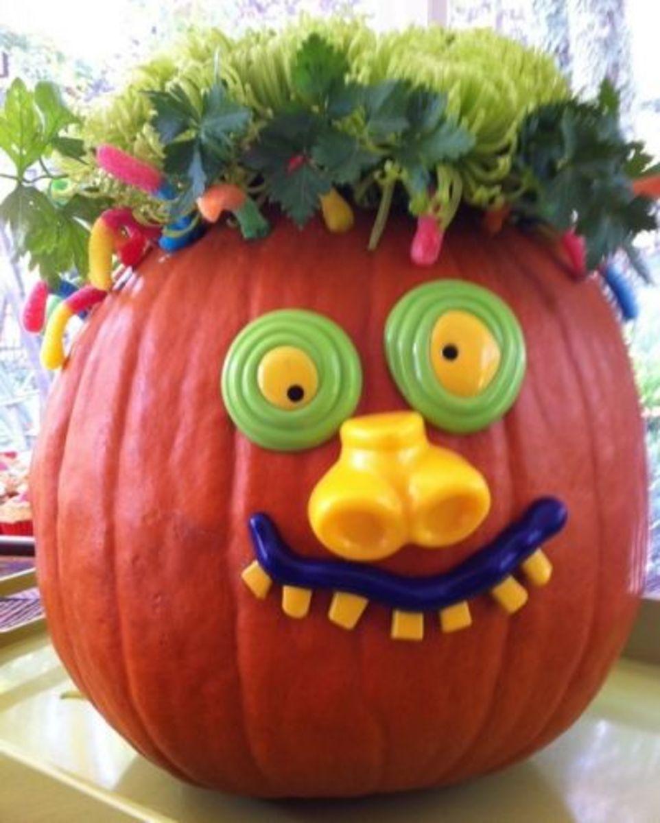 The Cute Crazy  Halloween Pumpkin