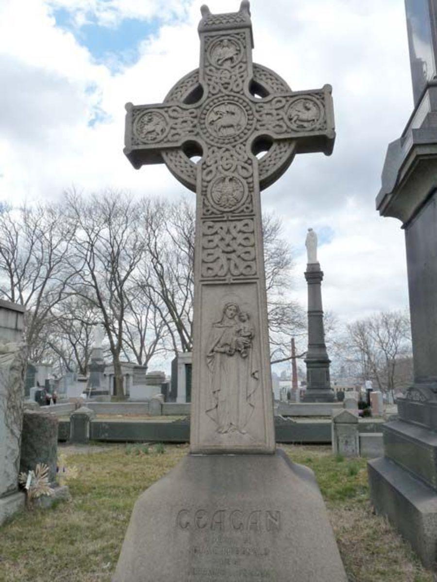A cemetery Celtic Cross.