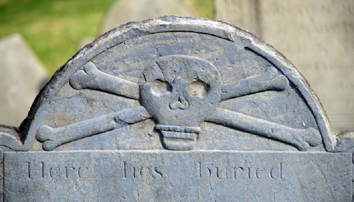One of the more interesting grave symbols.