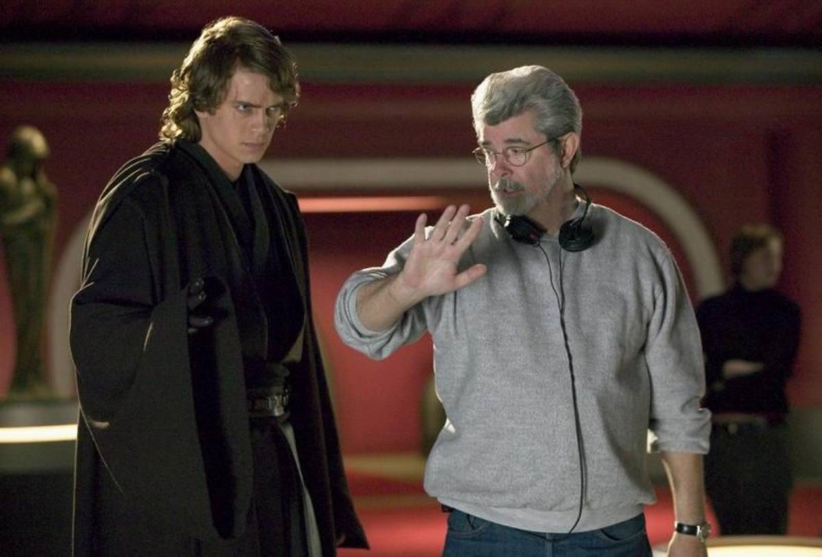 Hayden Christensen and George Lucas