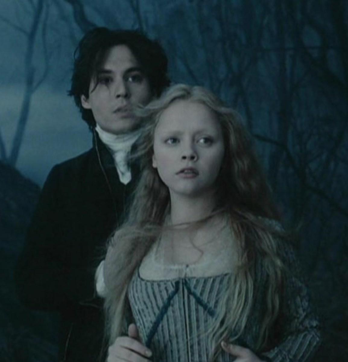 Johnny Depp and Christina Ricci in Sleepy Hollow (1999)