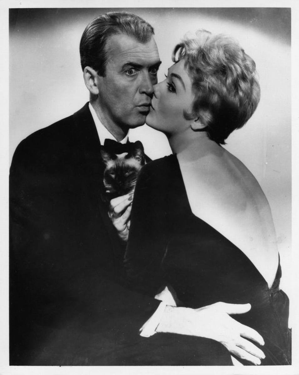 James Stewart and Kim Novak in Bell Book and Candle (1958)