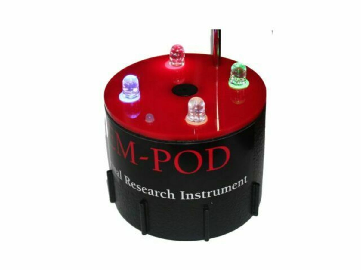 A Rim-Pod lights up when its electromagnetic field is disturbed, which is an indication that a spirit is present.
