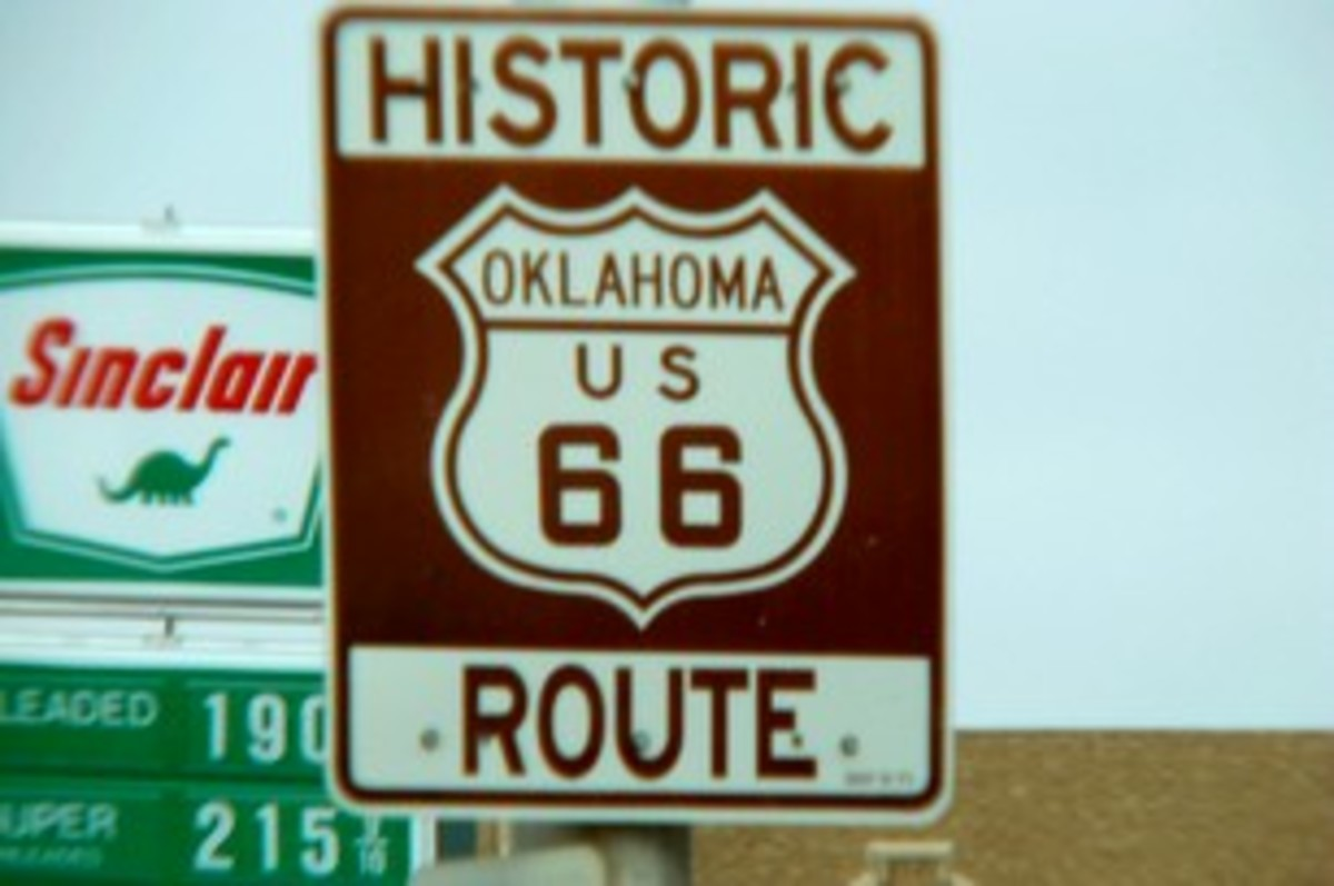 "Ol' Route 66, Oklahoma...(I attended two separate colleges on Ol'66)  ""Get your kicks on Route 66!"""
