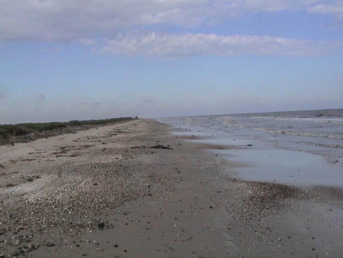 A Lone Beach, High Island, Texas