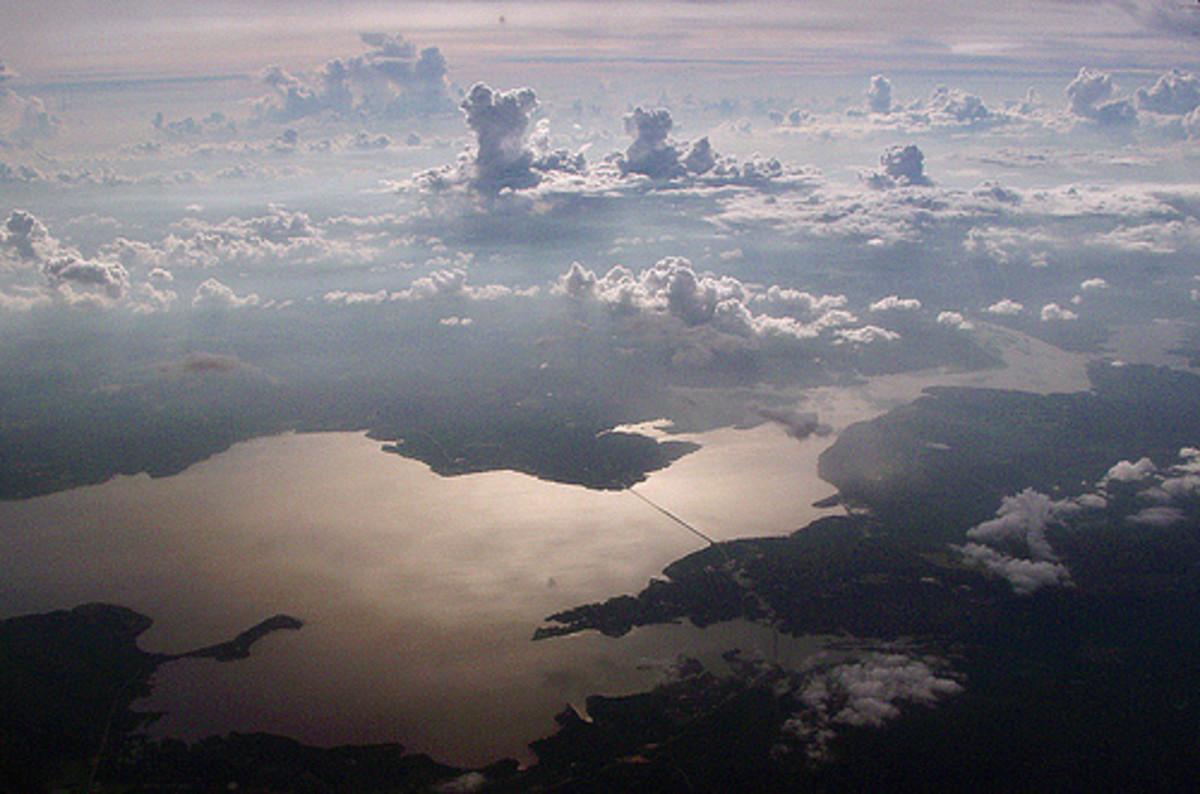 Aerial View of Lake Livingston, Texas