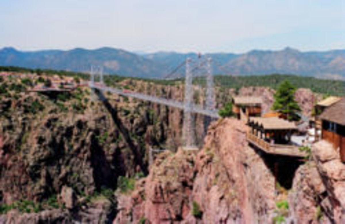 Royal Gorge Bridge, Canon City, Colorado...the highest bridge in the United States.