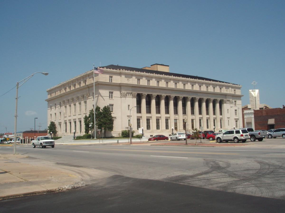 Muskogee, Oklahoma, USA. They do still wave Ol' Glory down at the Courthouse...reference to a Merle Haggard song