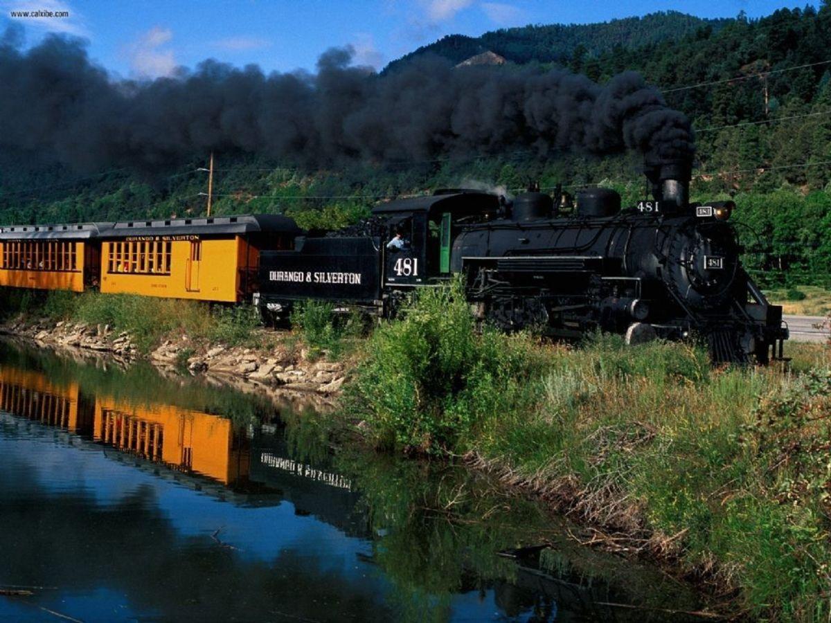 Durango & Silverton Narrow Gauge Railroad Train, Colorado