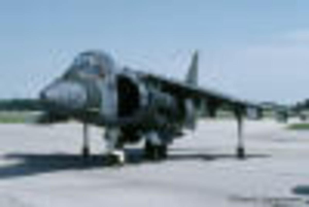 "A Harrier Jet ready for take-off, Cherry Point, North Carolina...""Pardon our Noise...it is the Sound of Freedom!"""