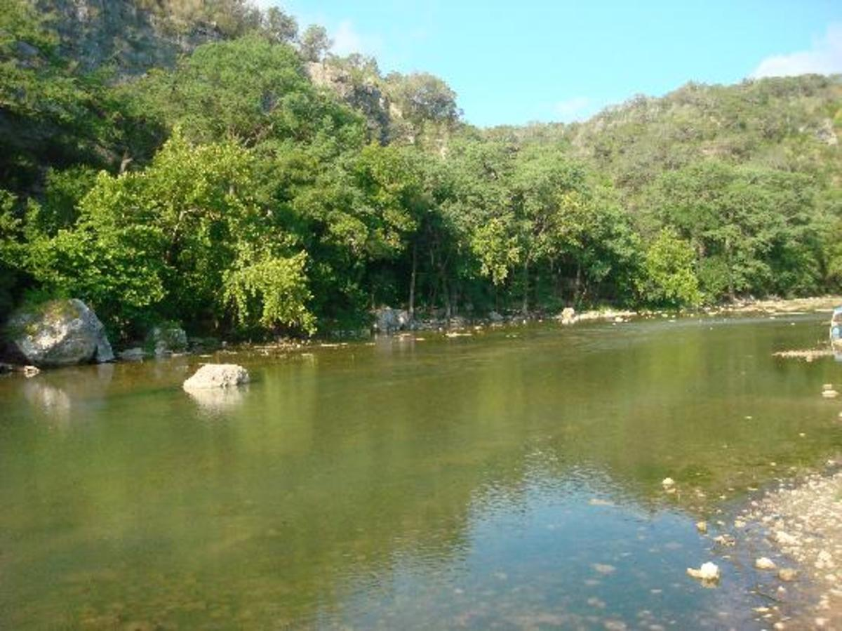 New Braunsfels, Texas...If you go there...you must float along the Guadalupe River...there is nothing like it!