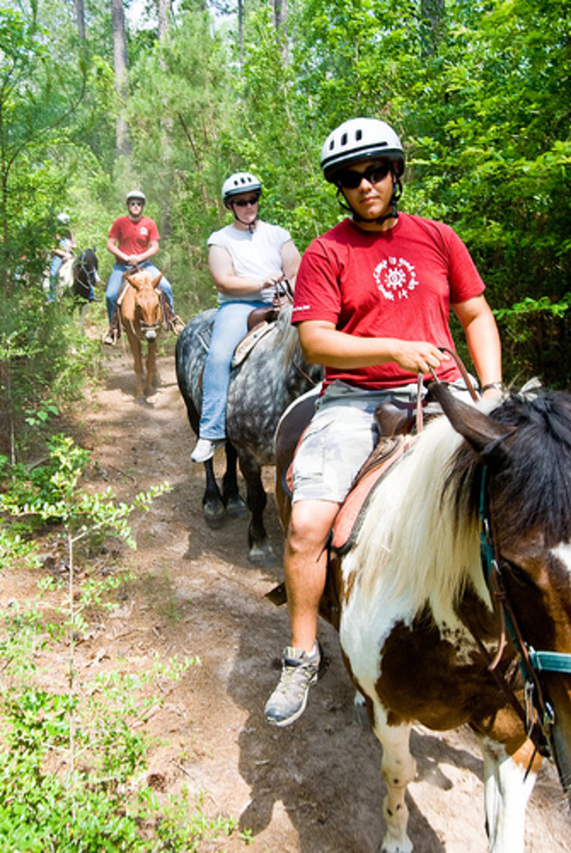 A Trail Ride, Camp Cullen, Trinity, Texas
