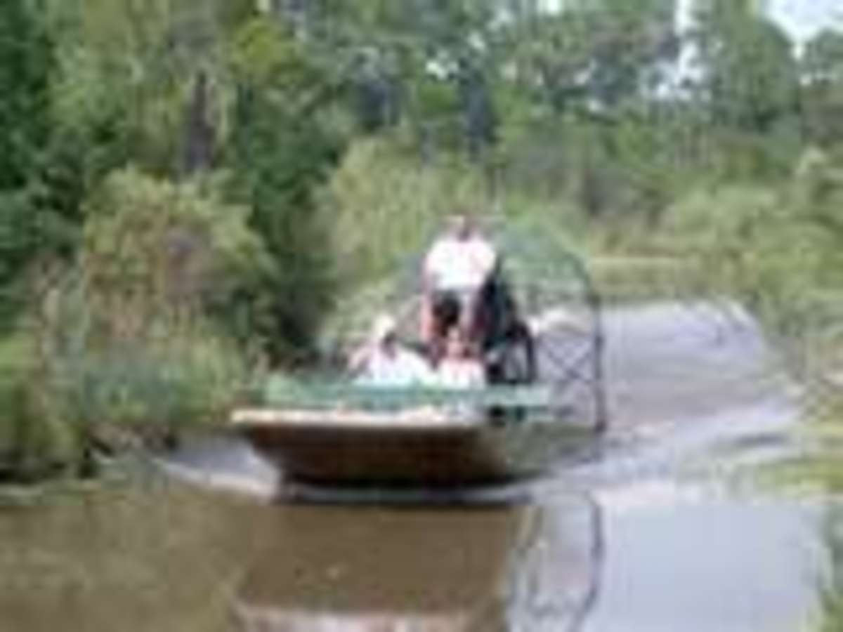 An Air Boat Ride, Similar to the one we took in Orange, Texas.