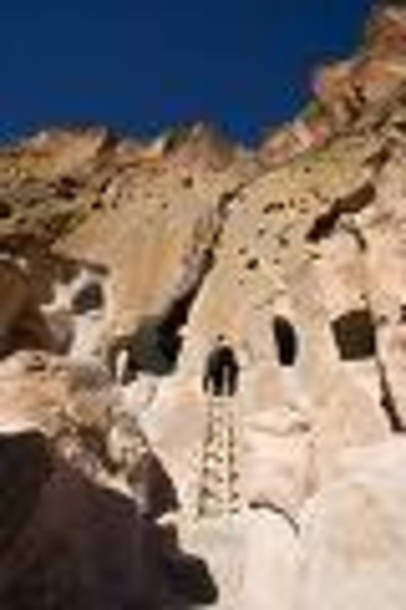 Cliff Dwellings, Near Taos, New Mexico