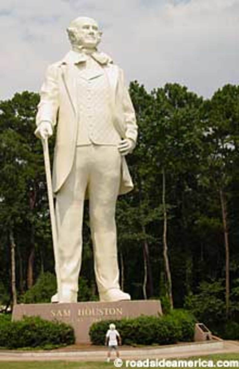 Sam Houston Statue, overlooking I-45 in Huntsville, Texas...Home to Sam Houston in his time.