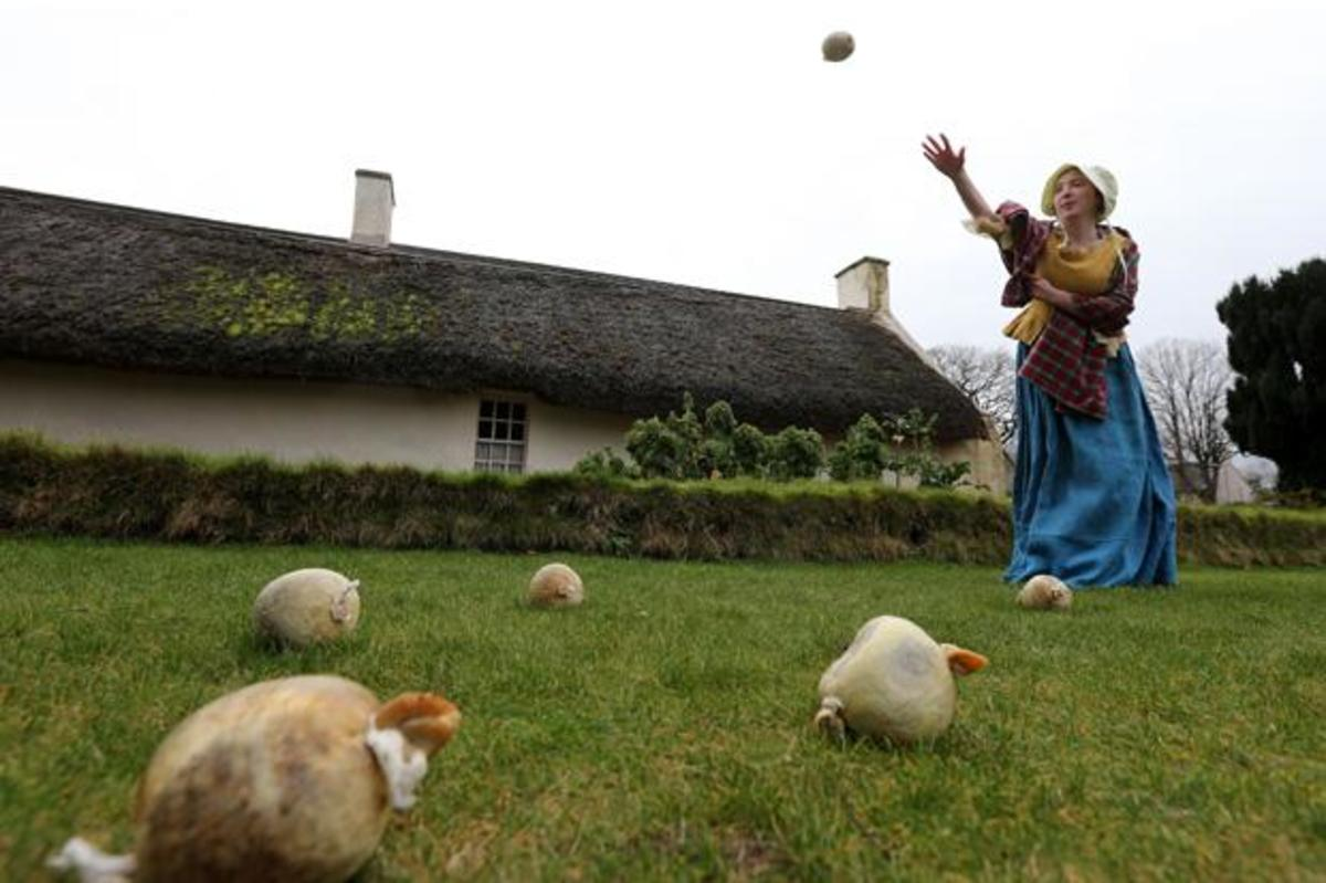 There's a world record for haggis hurling.