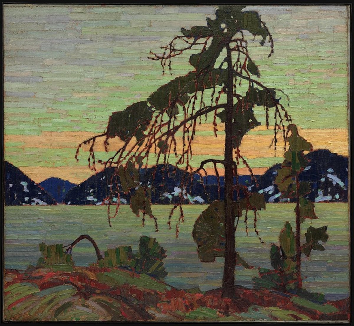 The Jack Pine by Tom Thomson. Painted in 1916 or 1917.