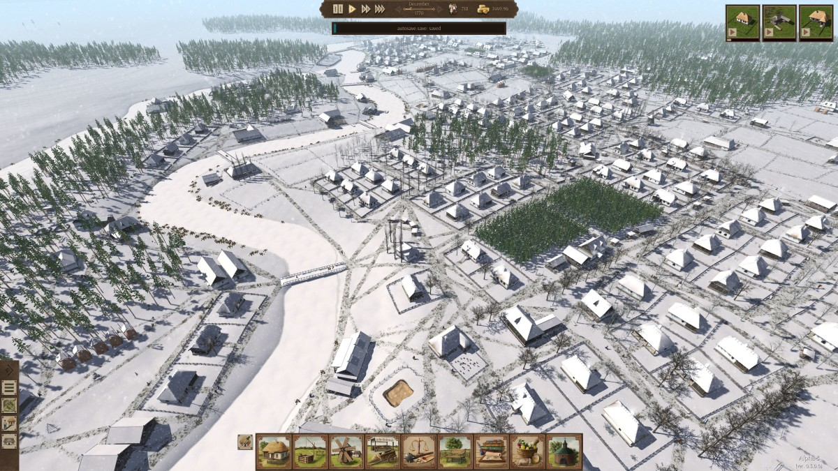 """A city built in """"Ostriv"""" during the winter."""