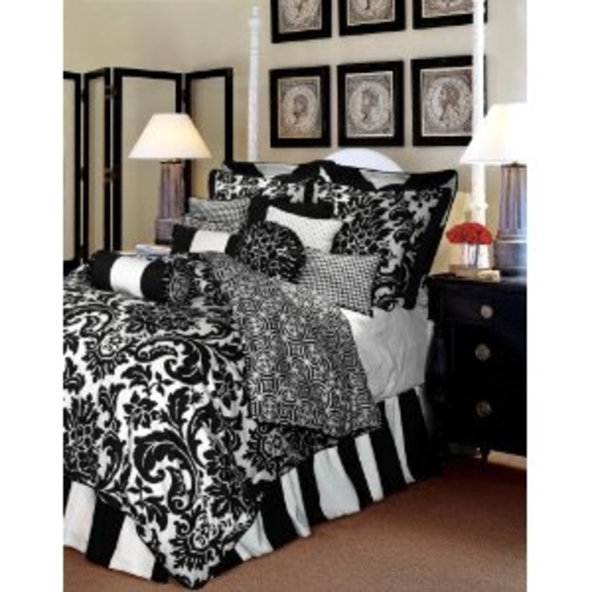 Buy A Black and White Comforter Set