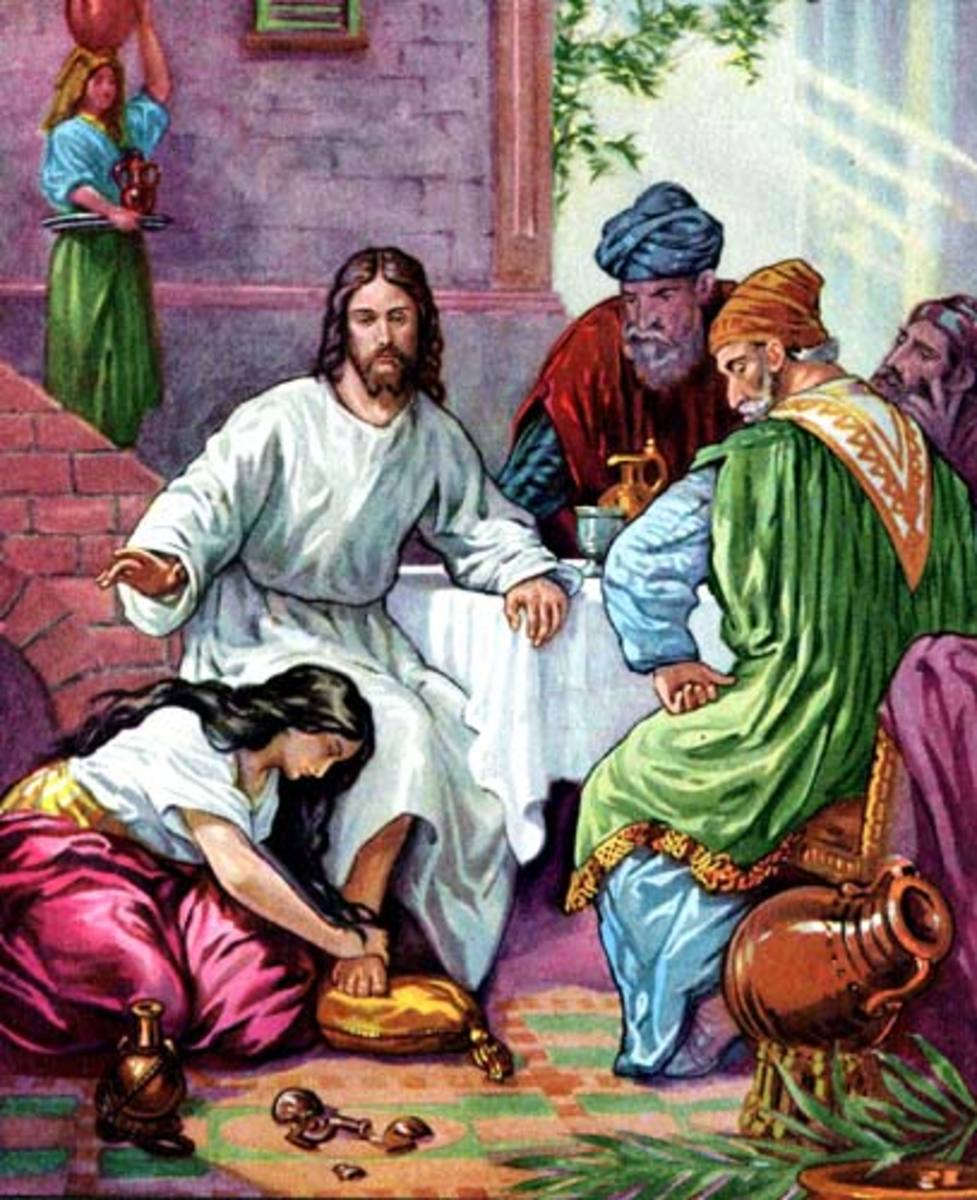 Mary Anoints the feet of Jesus