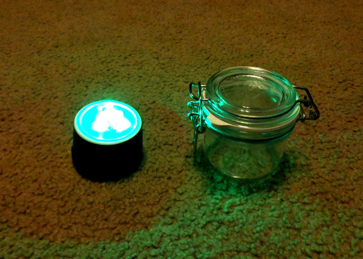 LED Circuit Assembly and Sealed Glass Container