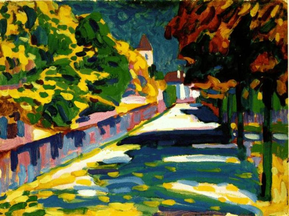Autumn in Bavaria   1908; Kandinsky