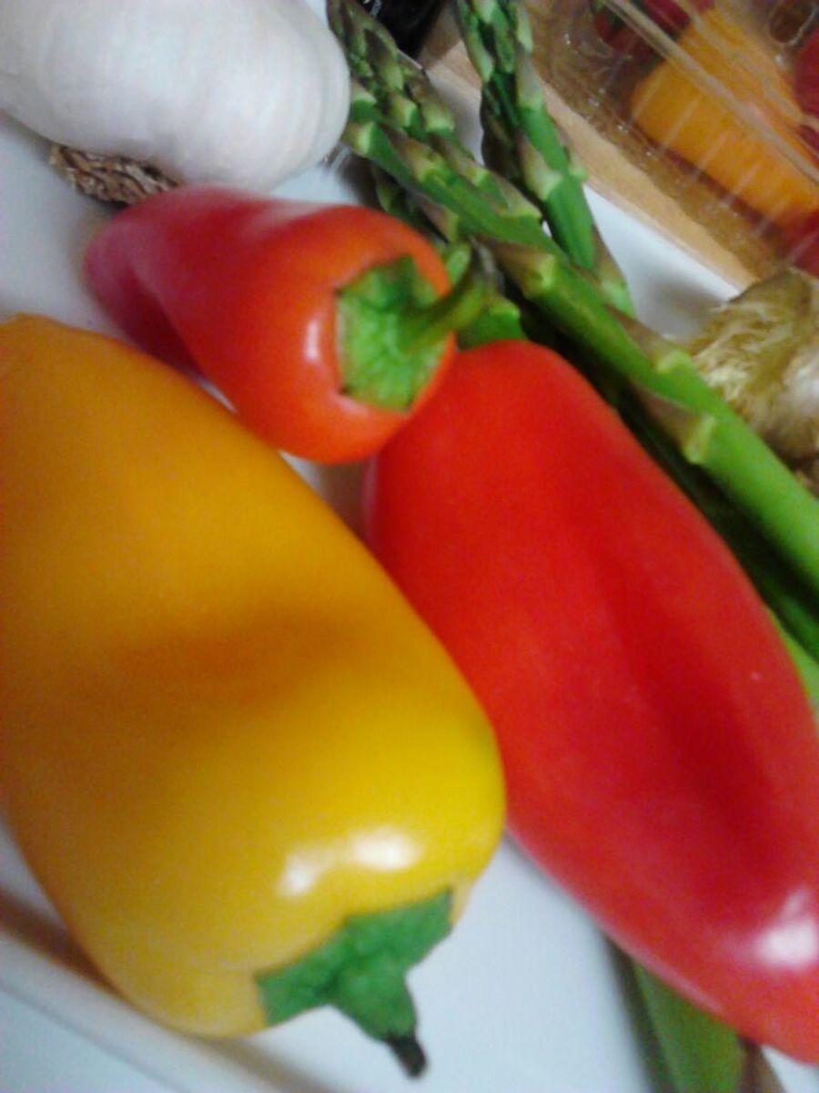 Fresh organic sweet chili peppers
