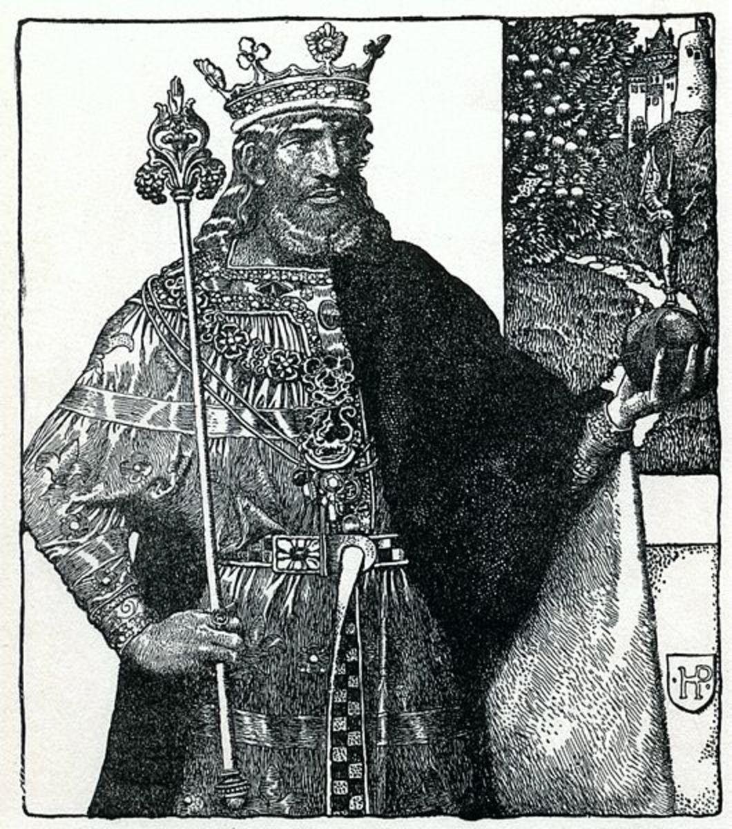 Sketch of good King Arthur.