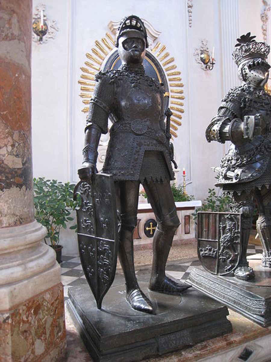 Statue of King Arthur by Albrect Durer in Innsbruck, Austria.
