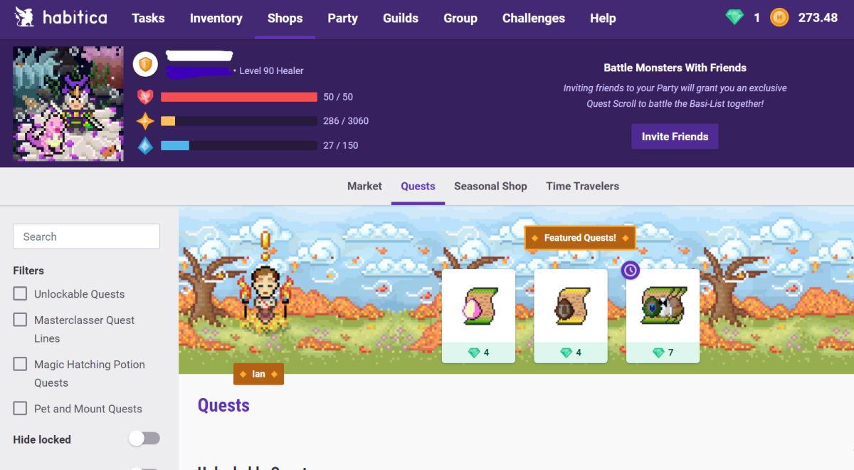 Gamify your life with Habitica!
