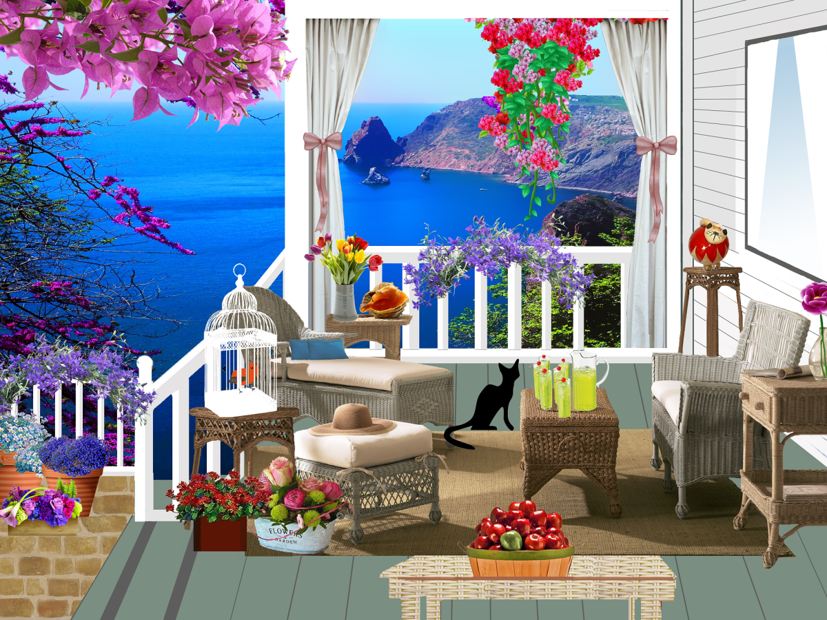 My porch? I wish. Image by Louise Dav from Pixabay