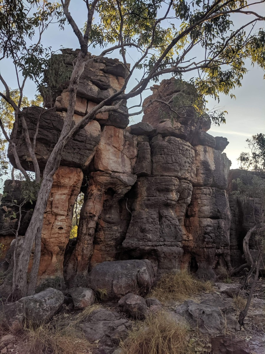 Natural sandstone structures, The Lost City, NT, Australia