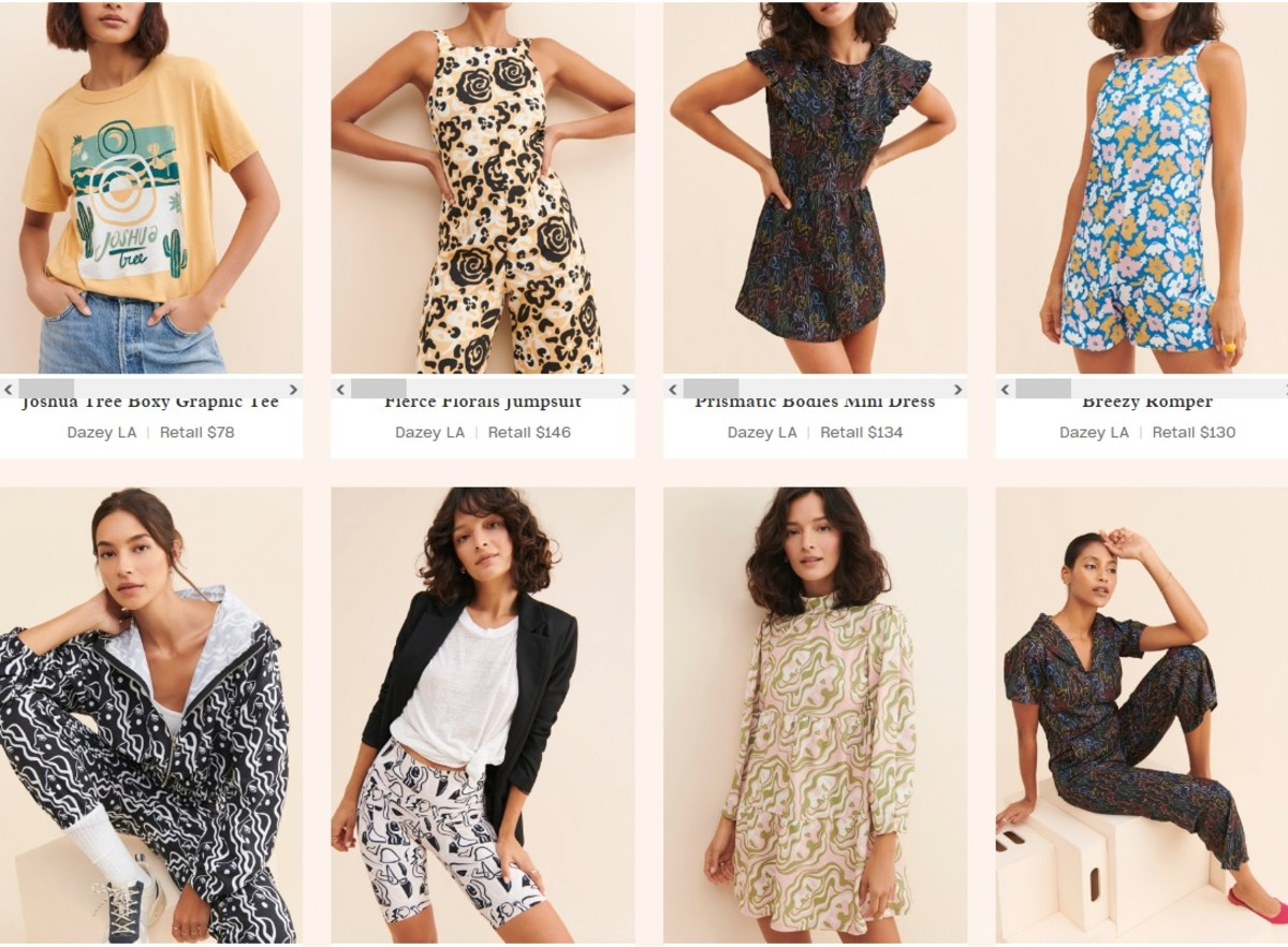 Rent made in America clothing -- like these Dazey LA pieces -- from Nuuly