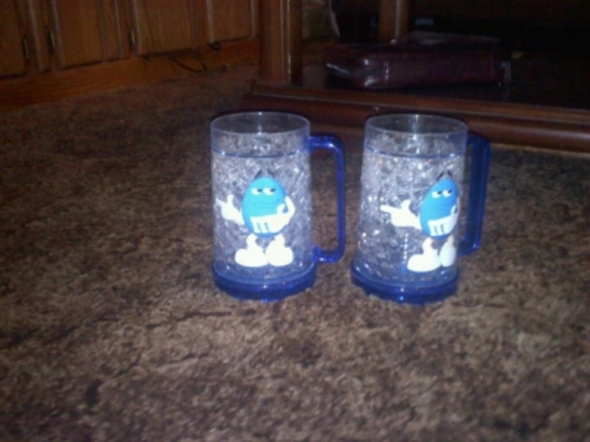 My Blue M&M Cups My Sister Got Me