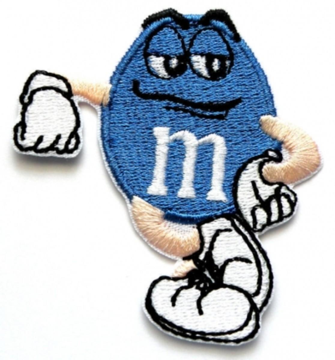 Blue M&M Patch