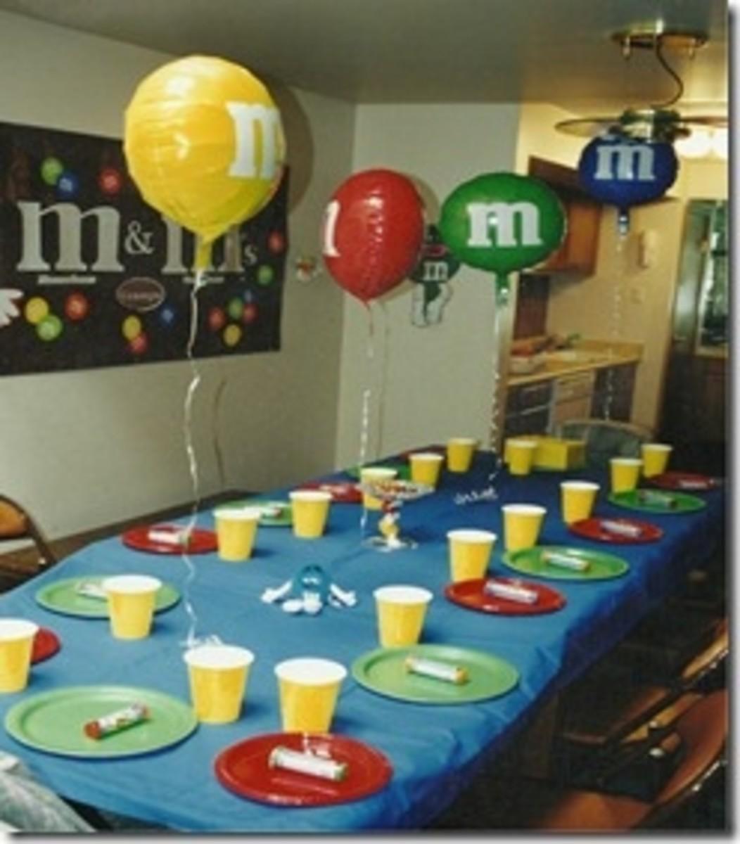 Blue M&M Birthday Party