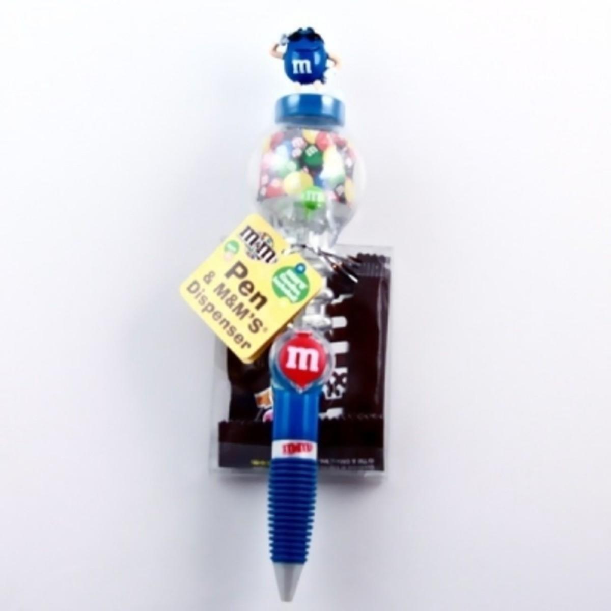 Blue M&M Pen
