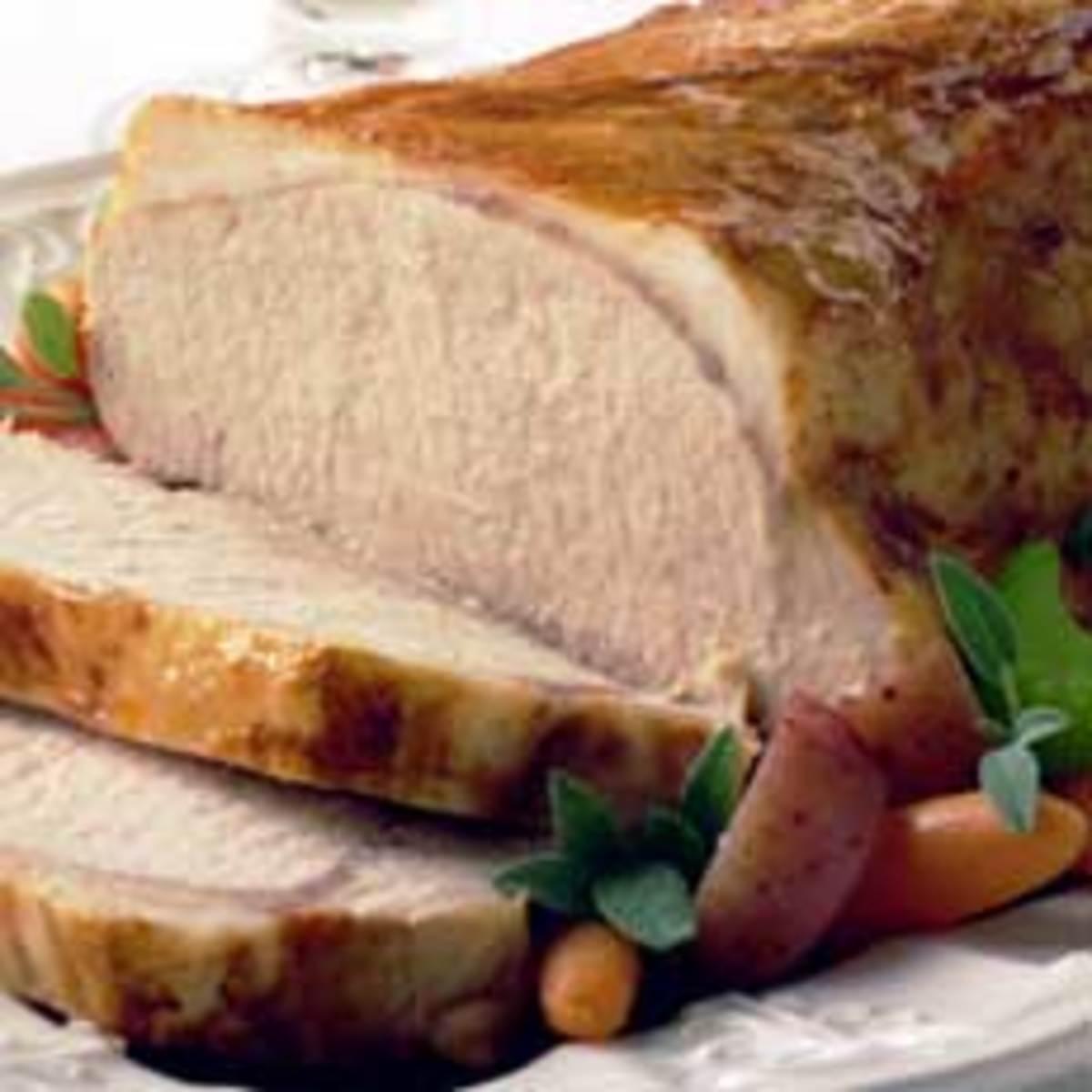 How to Prepare Pork Roast With Bacon, Mushroom Gravy