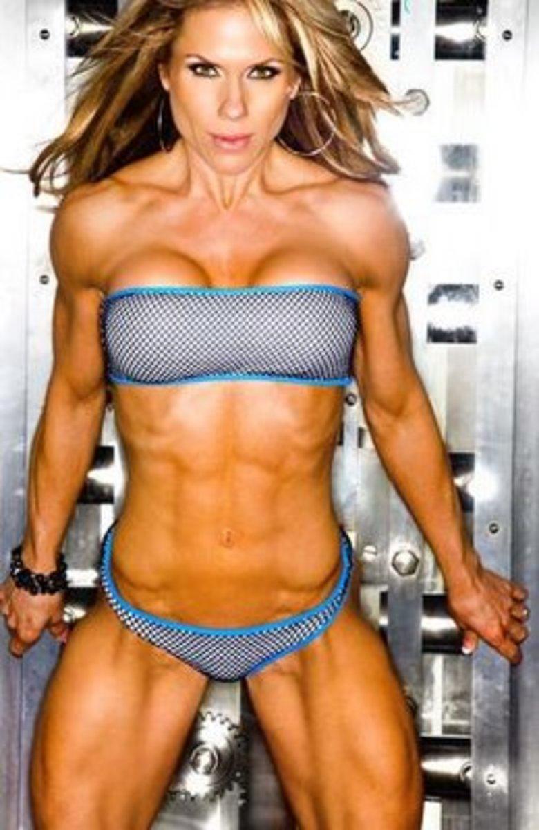 Beautiful figure competitor Monica Brant