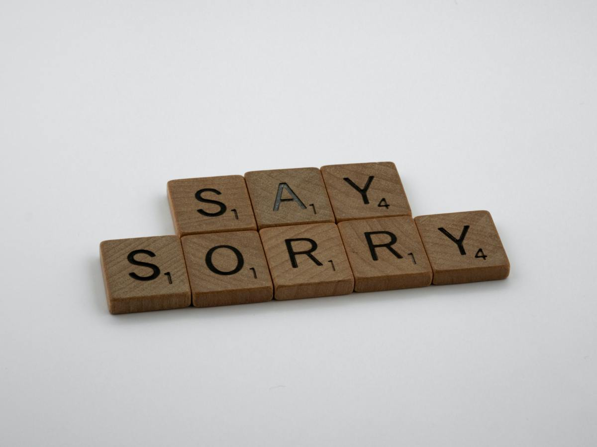 Why You Should Say I'm Sorry to Yourself First